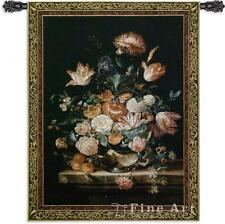 """Bouquet Of Majesty Floral Tapestry Flowers Vase Picture 53""""x76"""""""