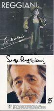 CD Serge REGGIANI 2 albums sur 1 CD (Pochette cartonnée) : 70 balais (1992) - 95