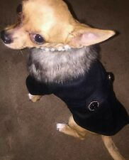 Chihuahua Taglia XS Nero Smart Abito Unisex Stile Cappotto Vestiti Per Cani