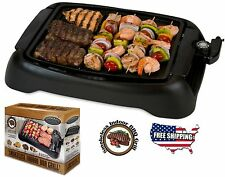 Electric Grill Indoor Smokeless BBQ Non Stick Cooking Portable Barbecue Griddle