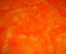 """Faux Fur Fake Orange  shaggy long pile upholstery custom fabric BTY 60"""" wide"""