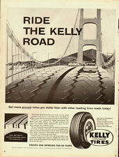 1950's Vintage ad for KELLY Springfield Tires/Golden Gate Bridge in ad (042513)