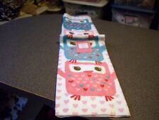 Valentine's Day Owl Owls Hearts Teal Pink Whole Kitchen Towel