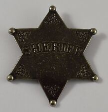 Silver Six Point Sheriff Badge - Ranger/Police/Cowboy Wild West Western US Law