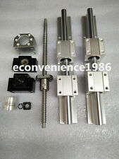 2 x SBR20-400mm linear rail guides &ballscrew RM1605-400mm+1 BK/BF12 & couplers