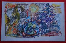 """ROBERT CALIX (1919/2008)  Pastel   """" COMPOSITION   """"   Signé"""