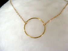 COLLIER PENDENTIF CERCLE - OR 14 carats
