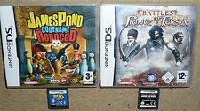 JOB LOT 4 NINTENDO DS DSI GAME James Pond Prince Persia Trauma Centre Zoo Tycoon