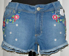 Floral Jean Shorts: Curvy 9/10 - NWT! Flowers Cute Trendy Colorful Hippie Boho