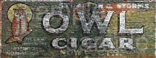 WEATHERED BARN BUILDING STORE LAYOUT OWL CIGAR SIGN HO O N SIGN DECAL 1.5 X 4