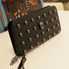 Punk Style Unisex Clutch Bag Skull head Design Handbag Fashion Wallet Purse