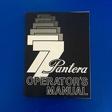 Vintage Arctic Cat Pantera Owners Manual