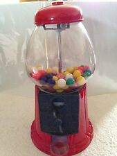 "VINTAGE CLASSIC Glass & Metal Bubble Gum Ball Machine/Bank - Taiwan 11.5"" Tall"
