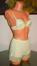 NWT Malizia by La Perla SPRING IN NEW YORK Bra / Short, 34C / S 2 Green