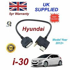 For Hyundai i30 iPhone 3gs 4 4s iPods USB & Aux Audio Cable Model Year 2012+