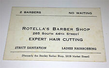 Antique Rotella's Barber Shop Expert Hair Cutting, Hairbobbing! Old Connecticut!