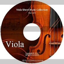 Massive Professional Viola Sheet Music Collection Archive Library on 2 DVD's