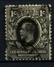 East Africa & Uganda 1912-21 SG#44, 1c Black KGV Used #D31046