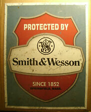Old Style Tin Sign - Smith & Wesson Ad - Man Cave Sign - Springfield Mass Gun Co