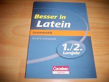 Besser in Latein 1./2. Lernjahr. Grammatik: Übungsbuch mit separatem Lösungsheft