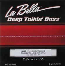 LA BELLA 760-FD FLATWOUND BASS STRINGS for DANELECTRO LONG HORN BASS - 42-83