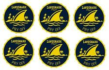 LANDSHARK 6 BEER BAR TOP SPILL MAT RUBBER COASTERS NEW