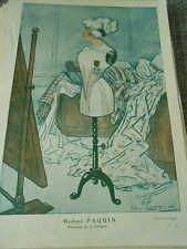 Madame Paquin Princesse de la Couture dessin de A. Barrère Print Art