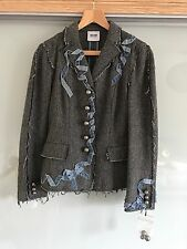 MOSCHINO CHEAP AND CHIC BLUE GREY WOOL JACKET SIZE 12