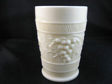 Vintage Northwood Custard Grapes Tumbler Glass Marked