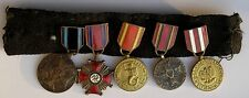 WW2 Polish mounted group 5 medal miniatures Warsaw liberation victory & freedom
