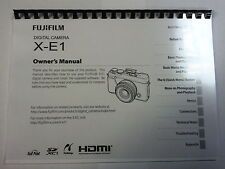 FUJIFILM X-E1 PRINTED INSTRUCTION MANUAL USER GUIDE 136 PAGES