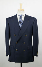 New. BRIONI Caligola Blue Wool Double Breasted Sport Coat Size 52/42 S $3995