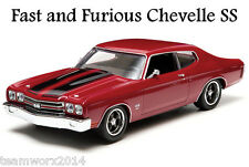 FAST AND FURIOUS (2009) 1970 CHEVY CHEVELLE SS DIECAST CAR 1:43 GREENLIGHT 86216