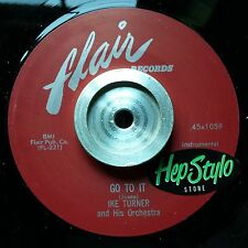 IKE TURNER 45 RE- GO TO IT/CUBAN GET AWAY - RARE FLAIR 50s R&B IKE TURNER GUITAR