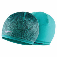 NIKE RUN COLD WEATHER REVERSIBLE BEANIE/HAT DUSTY CACTUS/SEAWEED WOMEN'S 1 SIZE