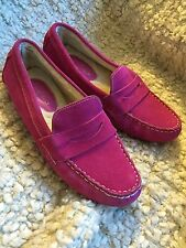 Cole Haan Pink Driving Loafer Size 8 Real Sheep Wool Lining NWOB
