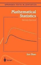 Mathematical Statistics by Jun Shao (2007, Hardcover, Revised)