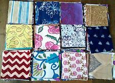 ethnic Indian cotton print fabric squares patchwork craft boho, 12 pieces 11cm