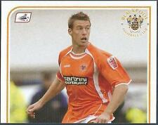 PANINI CHAMPIONSHIP 2009- #054-BLACKPOOL-CAPTAIN-ROB EDWARDS-TOP HALF