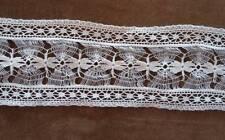 Fine Vintage Bobbin Lace Insertion Trim Doll Dressing