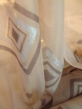 Quality Mocha Brown Silver Glitter Sheer Voile 50 Metre Roll Wedding Function