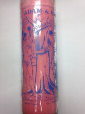 ADAM AND EVE 7 DAY UNSCENTED PINK CANDLE IN GLASS