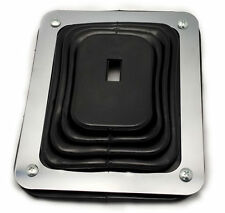 "Hurst Style Rubber Shifter Boot With Chrome Plate 5 5/8"" X 6 3/4"" Universal"