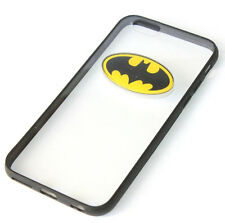 for iPhone 6 / 6S - Black Clear Batman Hard TPU Rubber Gummy Skin Case Cover