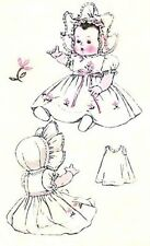 "Vintage 20"" BABY DOLL SAMPLE DOLL Clothes Pattern"