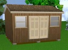 14x16 Storage Shed Plans Package, Blueprints, Material List & Instructions