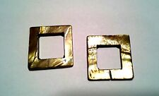 Two Mother of Pearl Squares - Golden Tan