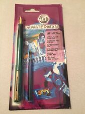 VINTAGE WATERMAN JIF METAL GREEN GT FINE NIB FOUNTAIN PEN-FRANCE-NOS