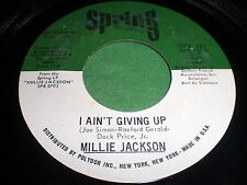 Millie Jackson: I Ain't Giving Up / I Miss You baby 45 - Soul