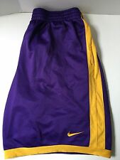 Nike Womens XL Extra Large Basketball Shorts Sport Athletic Active Purple Yellow